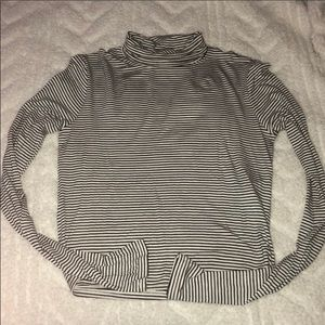 Forever 21 Cropped Striped Turtleneck NWT